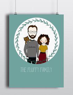 Por encargo de retratos retrato familiar por TheFluffinessMarket