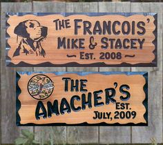 Hand Carved Wood Signs / Welcome Wood Signs
