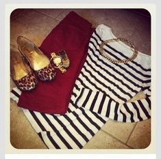 Should pair stripes with the leopard print flats I already own!