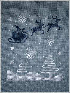 Free Santa and reindeer chart