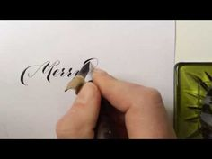 IStillLoveCalligraphy.com Merry Christmas! Calligraphy, sumi ink with vintage Esterbrook 357 nib. - YouTube