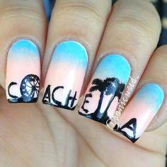 banicured_ coachella #nail #nails #nailart