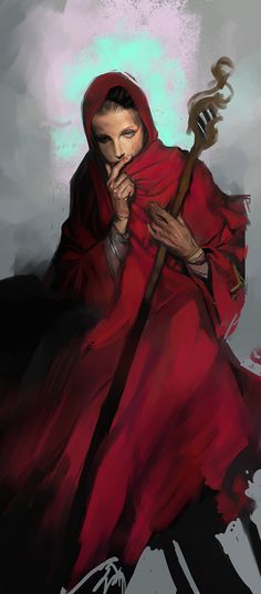 ✧ #characterconcepts ✧ red witch by pablo1119 on deviantART