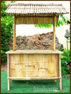 Tiki Bar with Bamboo Roof