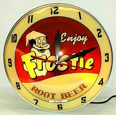 Frostie Root Beer double bubble clock