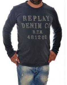 Μακρυμάνικες ανδρικές μπλούζες Long Sleeve Tops, Graphic Sweatshirt, Denim, Sweatshirts, Sweaters, Fashion, Moda, La Mode, Sweater
