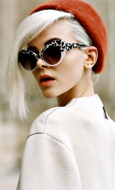 White cheetah shades #shades #trendy