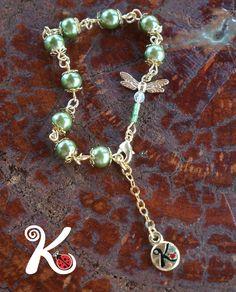 pulseira libélula.também em cristais. R$27,00