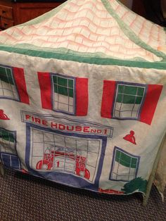 2 Great Card Table Playhouses  Oh So Cute by SylviasFinds on Etsy, $20.00