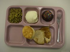 Totally awful school lunches, our school had an ugly green tray that was labeled the Booger tray, didn't want to be the kid that got that one, lol