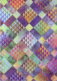 floating diamonds quilt | Colorquilts | Floating Diamonds