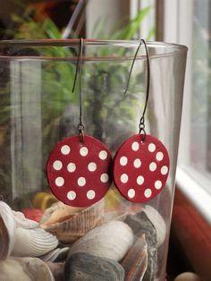 Boucles d'oreilles en cuir recyclé. Création unique By LoCa