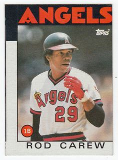 Rod Carew # 400 - 1986 Topps Baseball