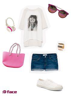 :Dface Combina tus gafas de sol y complementos Dface http://www.dface.es/products/dface-tarida-p #outfit #sol #gafasdesol #verano #pink