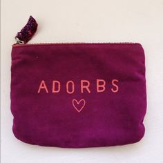 """Adorbs"" Cosmetic Bag In excellent condition and had never been used for cosmetics. Bundle to save  American Eagle Outfitters Other"