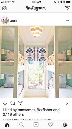Fenton House, Bunk Beds Built In, Bunk Rooms, Bedrooms, Dream Beach Houses, Attic Spaces, Big Girl Rooms, Dream Decor, Nursery Room