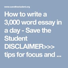 3000 word essay 1 day