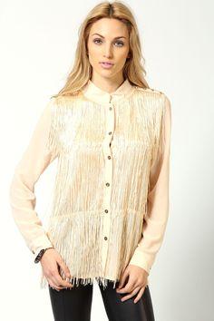 Jesse Tiered Tassel Shirt £20 >> http://www.boohoo.com/shirts-and-blouses/jesse-tiered-tassel-shirt/invt/azz53405