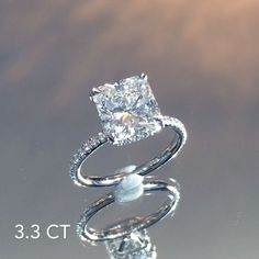 Another illustrious creation from the #LaurenB workshop. This starts and ends with the absolutely breathtaking 3.30 carat square #radiantcut center which is nestled perfectly in a custom version of our model# RS-119 floating design. With a center-stone this spectacular the setting serves as an accent and the wrap of pave diamonds underneath give it just the right touch of detailing for a beautiful finished look from all angles. Watch & enjoy