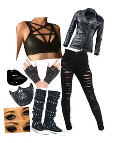 """""""Untitled #962"""" by thedarkestofhearts ❤ liked on Polyvore featuring Poizen Industries, women's clothing, women, female, woman, misses and juniors"""