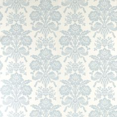 Find sophisticated detail in every Laura Ashley collection - home furnishings, children's room decor, and women, girls & men's fashion. Blue Floral Wallpaper, Floral Pattern Wallpaper, Silver Wallpaper, Damask Wallpaper, Embossed Wallpaper, Wallpaper Panels, Bedroom Wallpaper, Wallpaper Patterns, Wallpaper Ideas