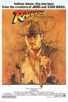 A great posterfromSteven Spielberg's epic adventure movie- Indiana Jones and the Raiders of the Lost Ark! Published 2008. Fully licensed. Ships fast. 24x36 i
