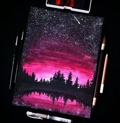 Beautiful Art Drawings Love New Ideas Galaxy Painting, Galaxy Art, Pink Galaxy, Oil Pastel Art, Oil Pastels, Pastel Artwork, Oil Pastel Drawings, Love Art, Cool Drawings
