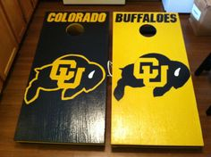 Colorado Buffaloes-Hand Painted, Custom Cornhole Boards