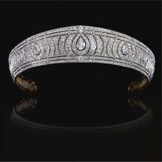 FROM THE COLLECTION OF VIDA, VISCOUNTESS CLIVE. A diamond kokoshnik tiara, circa 1910.