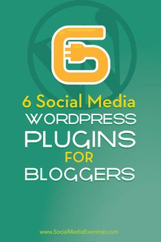 Is your blog taking full advantage of social media plugins?  The right WordPress plugins make it easy to grow your social media following and increase social shares.  In this article you'll discover six WordPress plugins that'll make your blog more social. Via @smexaminer.