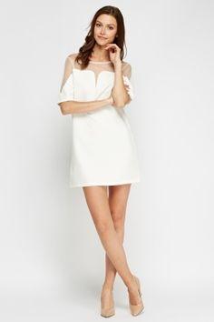 Cheap Dresses for 5 £ Affordable Dresses, Cheap Dresses, Latest Dress, Buy Cheap, Dress Outfits, Fashion Online, Shop Now, White Dress, Mesh