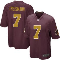 cb8382d06 Nike Elite Joe Theismann Burgundy Red Youth Jersey - Washington Redskins  7  NFL 80th Anniversary