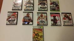 Video Games Lot of 10,Used,NBA,NFL,Assorted Titles PS2 & XBox #EASports2KActivision