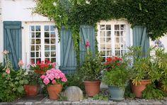 /ramen/99327-oud-frans-huisje-met-blauwe-luikjes-terracotta-potten-met-kleurrijke-bloemen/ Bestelcode: TP99327 - Oud Frans huisje met blauwe luikjes terracotta potten met kleurrijke bloemen
