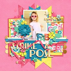 Digital Scrapbook Layout using Glam Pop by Traci Reed and Trifecta 15 - Cricket's Corner templates by Brook Magee
