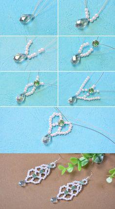 beaded dangle earrings, like them? LC.Pandahall.com will share us the tutorial soon.