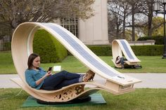 Charge your gadgets day or night, while chilling with your friends on the Soft Rocker Solar Powered Sun Lounger.