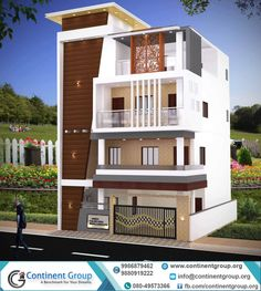 New house plans bungalow modern front elevation 68 ideas House Design 3d, House Outer Design, 3 Storey House Design, Kerala House Design, Home Building Design, House Front Design, Modern Bungalow Exterior, Classic House Exterior, Building Elevation