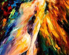 Arte de la pared de la bailarina belleza de por AfremovArtStudio
