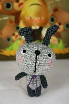 crochet dog by lemonstale