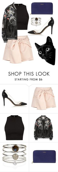 """""""Fashion Kitty"""" by jasmine-the-flower ❤ liked on Polyvore featuring Gianvito Rossi, 3.1 Phillip Lim, Accessorize and Furla"""