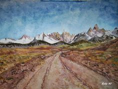 GALERIA PALOMO MARIA: RUTA 40 Patagonia, Wilderness, Journey, Tours, Painting, Art, Landscape Paintings, Paths, Art Background