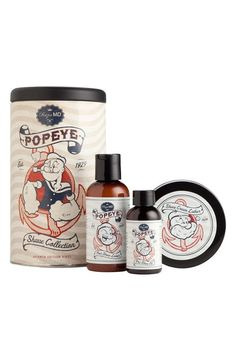 Popeye the (clean-shaven) sailor man.