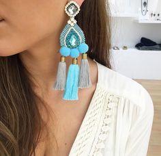 Dazzling Best Collection of Earrings Ideas. Ineffable Best Collection of Earrings Ideas. Long Tassel Earrings, Tassel Jewelry, Soutache Jewelry, Ethnic Jewelry, Beaded Earrings, Earrings Handmade, Jewelery, Stylish Jewelry, Cute Jewelry