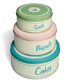 Pastel & Cream Dessert Tin Set by Home Treats from Rex on #zulilyUK today!