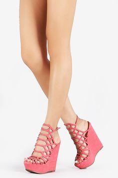Honeycomb Platform Wedges - Black - Bare Feet Shoes - 1