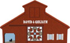 Candabean Collectibles  - David and Goliath Quilt Barn Shelf Sitter