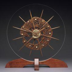"mark doolittle studio   ... Clock ""Ancient Sea Form"" by Mark Doolittle Studio   CustomMade.com"