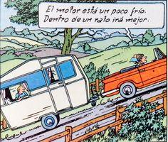 La Isla Negra - Triumph Herald 1200 1959 y Caravana