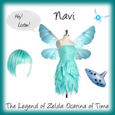 Outfit/costume inspired by Navi from The Legend of Zelda: Ocarina of Time Family Halloween Costumes, Halloween Town, Halloween Cosplay, Halloween 2018, Casual Cosplay, Cosplay Outfits, Cosplay Costumes, Cosplay Ideas, Link Cosplay